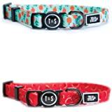 """Tella & Stella, Cat Collar with Self-Opening Buckle for The Safety of Your Cat , Adjustable to 7"""" to 12"""" Long, Soft on Cat's"""