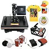 Segawe 6in1 Digital Transfer Heat Press Machine Sublimation T-shirt Mug Hat Plate Cap
