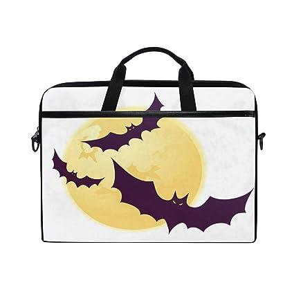 3bd0e761bf8 Amazon.com  Laptop Computer Bag Halloween Bats Notebook Shoulder ...