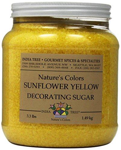 India Tree Sunflower Yellow Decorating Sugar, 3.3 -
