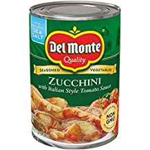 Del Monte Canned Seasoned Vegetables Zucchini with Italian Style Tomato Sauce, 14.5-Ounce (Pack of 12)