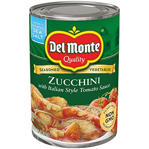 Style Tomato Sauce - Del Monte Canned Seasoned Vegetables Zucchini with Italian Style Tomato Sauce, 14.5-Ounce (Pack of 12)