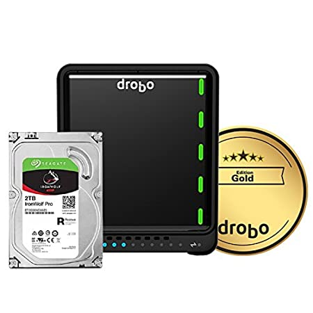 5-Bay Array Drobo 5N2: Network Attached Storage NAS DRDS5A21 2X Gigabit Ethernet Ports