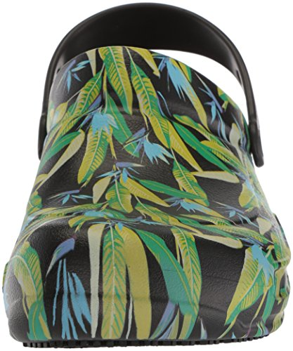 Adulte Graphic Bistro Green Crocs Noir Mixte Clog parrot black Sabots 5wXdndqg
