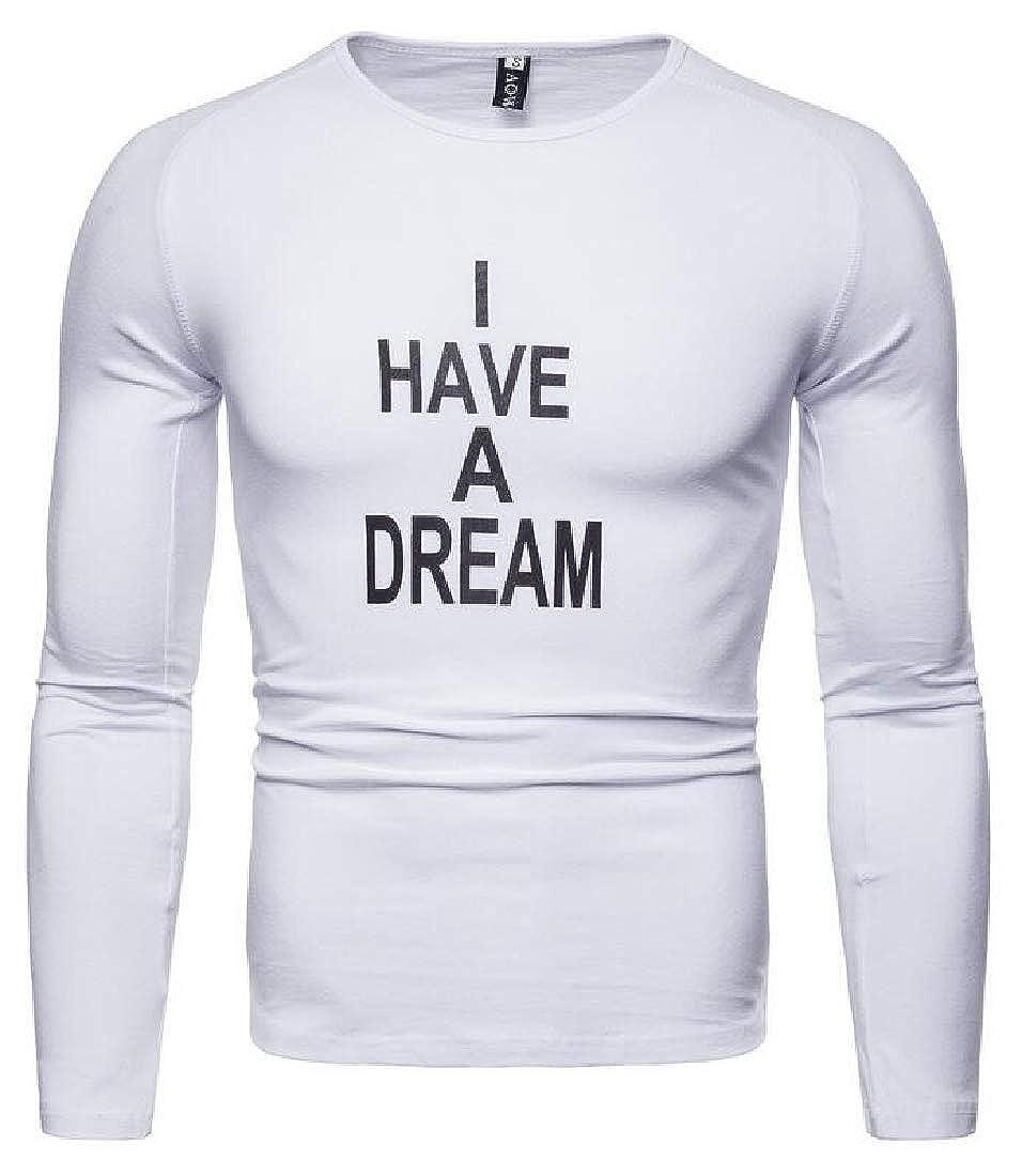 Men Long Sleeve T Shirt Tee V Neck Tops Slim Fit Basic T-Shirt