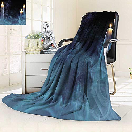 YOYI-HOME Fashion Designs Warm Duplex Printed Blanket Mystical with Candles for a p y on Halloween Sofa,Air-Conditioner Room/69 W by 47