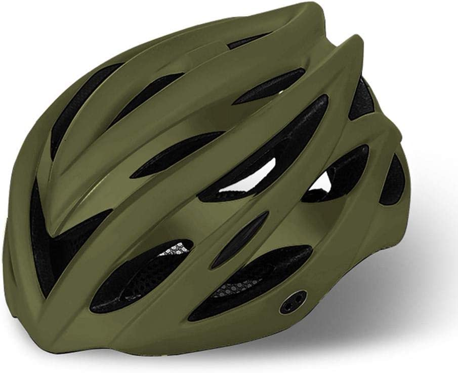 Women Youth Foxlove Riding Helmet Mountain Road Bike Riding Helmet Riding Safety Lightweight Helmet For Adult |M | Army Green Teen Head Size, 55-58cm Men