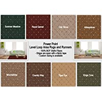 Koeckritz Level Loop Power Point Area Rugs - Click For Size and Color Options. (4x4 Square, Country Way)