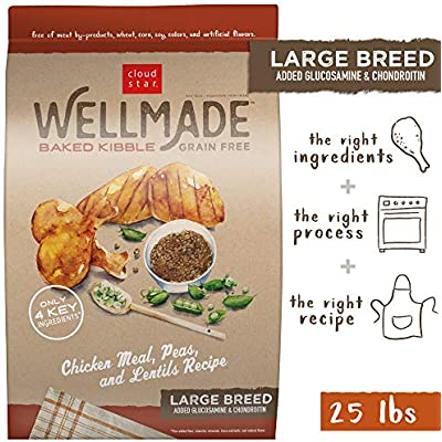 Cloud Star WellMade Large Breed, Grain Free Baked Kibble Dog Food, Quality Protein & Gluten Free