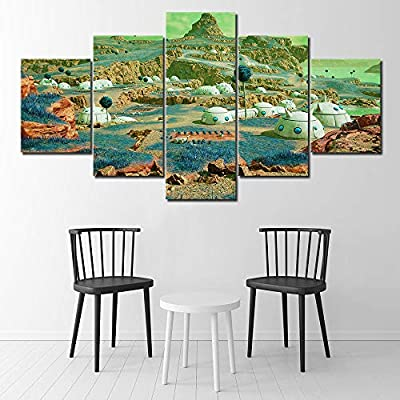 Canvas Painting Game Scene Landscape Canvas Painting Jump