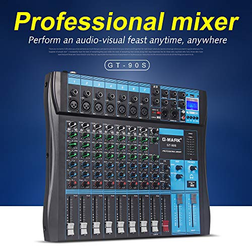 G-MARK GT90S Audio Mixer with USB DJ Sound Mixing Console MP3 Jack 9-Channel Karaoke 48V Amplifier For Karaoke KTV Match Party (Best Karaoke Mixer 2019)