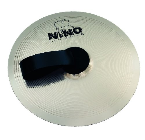 - Nino Percussion NINO-NS305 12-Inch Marching Cymbal with Holding Strap, Nickel Silver