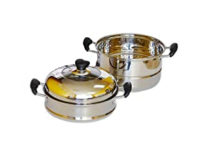 Home N Kitchenware Collection 30cm Stainless Steel Steam Pot (4-pieces)
