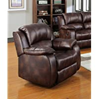 Acme 50512 Zanthe Motion Recliner, Brown Polished Microfiber
