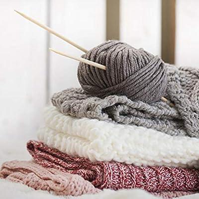 Hilo de algodón peinado de 4 acciones Hilo de lana mezclado cómodo ...