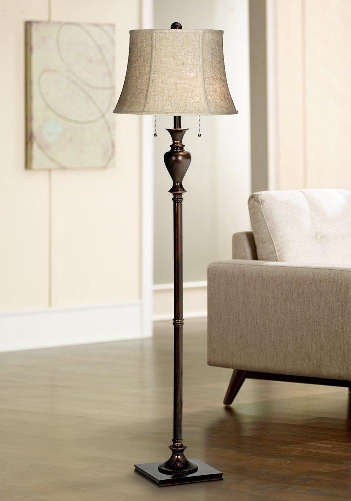 - Jenna Twin Pull Chain Bronze Floor Lamp - - Amazon.com
