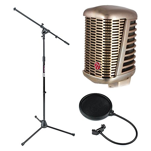 Ms7701b Boom Microphone Stand - CAD A77 Supercardioid Large Diaphragm Dynamic Microphone + CAD Audio EPF-5A VP 1 Pop Filter 6