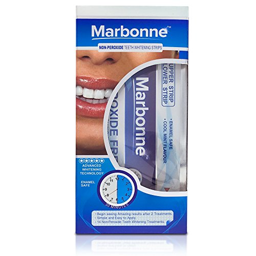 Professional Teeth Whitening Strips by Marbonne® - Includes 28 Whitening Strips with Advanced Whitening Technology | Fast Results & No Sensitivity - Money Back Guarantee