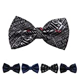 DBFF0044 Series Colors Bow Ties Satin Polyester Waistcoat For Boyfriend Pre-tied Bow Ties - 5 Styles Available By Dan Smith