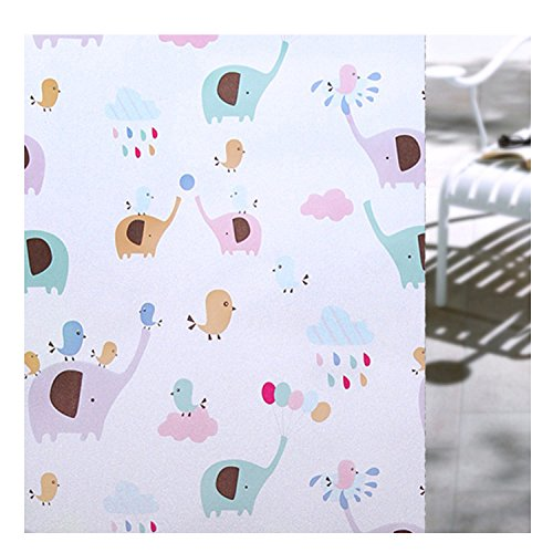 Yamed Lovely Animals Glass Film Privacy Decorative Anti Static Cling Window Film Sticker 45200Cm by Yamed