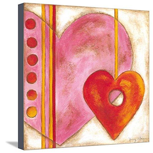 Nancy Slocum Pop - ArtEdge Pop Hearts III by Nancy Slocum, Stretched Canvas Print, 20x20 in
