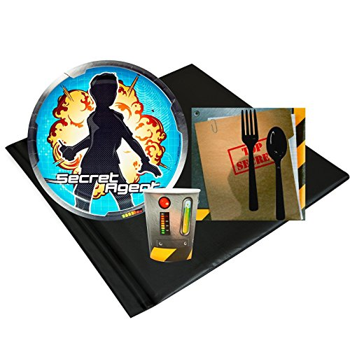 Csi Detective Costume (Secret Agent Childrens Birthday Party Supplies - Tableware Party Pack (8))
