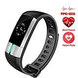 Guiguiyue G20 Smart Bracelet ECG Monitor Sport band Blood Pressure Fitness Activity Tracker Wristband Pulsometro For Xiaomi band Pedometer Wearable Device (black)