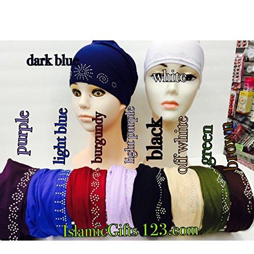 Hijab-Under scarf ACCESSORY,Hijab Cap,Stone caps,Satin Bonnet-lace--10 CAPS* ISLAMIC GIFTS 123-Under Scarf Headband-Ramadan GIFT