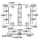 "Design House 181438 3-Pack Hinge 3.5"", Oil Rubbed"