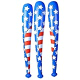 12 USA Flag Baseball Bats Red White and Blue Inflatable