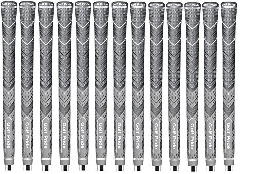 Set of 13 NEW Golf Pride MCC Plus4 Grips, Gray, Midsize by MCC Plus 4