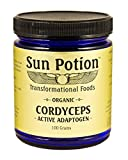 Sun Potion Organic Cordyceps Mushroom Powder - 100 Gram Jar