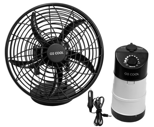 Portable Sports Fan : O cool portable tent fan with emergency device charger