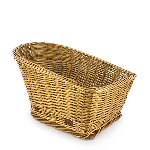 Large Rear Mount Willow Bicycle Basket for Dogs - Hand Crafted By Beach and Dog Co - Leashes Included (Cape May Large) by Beach & Dog Co (Image #3)