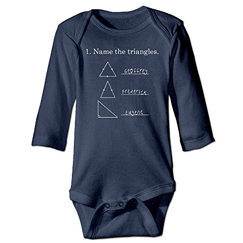 Richard Unisex Infant Bodysuits Name The Triangles Funny Math Geometry quiz Boys Babysuit Long Sleeve Jumpsuit Sunsuit Outfit 6 M - Personality Quiz Style