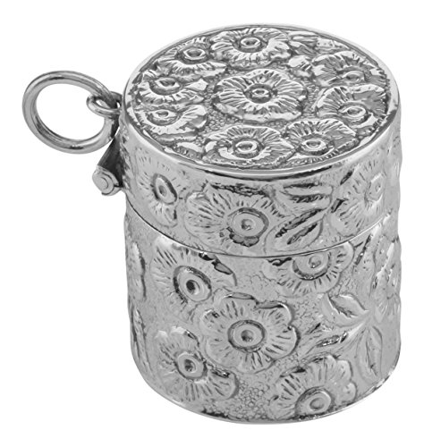 Sterling Chatelaine Silver (Victorian Style Floral Sewing Thimble Case in Fine Sterling Silver)