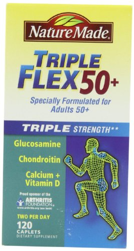 Nature Made Triple Flex 50+, New Mega Size Package 240 Caplets by Nature Made