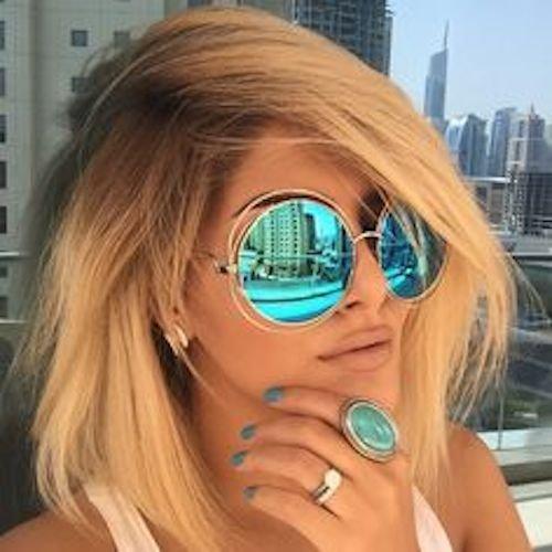 Oversized Bohemian Coachella Sunglasses Turquoise