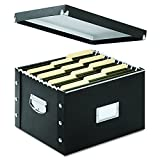 Snap-N-Store Snap Together File Box, Letter/Legal Size, 9.75 x 12.75 x 15 Inches, Glossy Black (SNS01536)