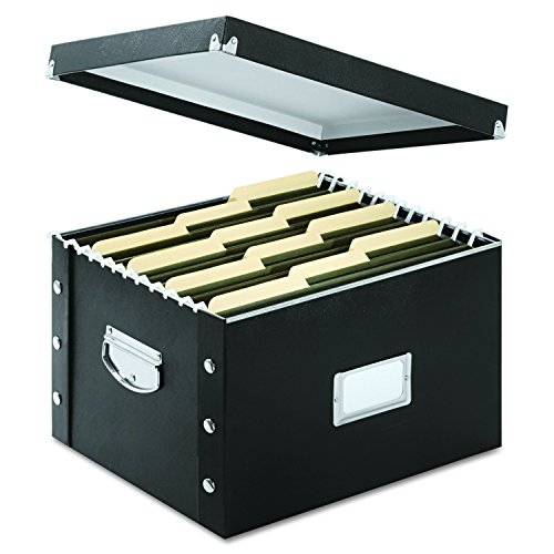 Snap N Store File Box, Letter/Legal Size, Glossy Black (SNS01536)