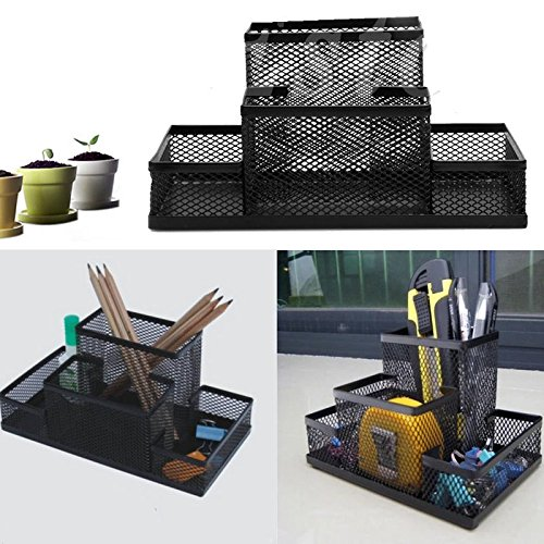 Metal Mesh Home Office Pen Pencils Holder Desk Stationery Storage Organizer Box (Nerd Office Supplies compare prices)