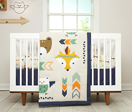 Crib Boy Bedding (Little Love by NoJo 5 Piece Comforter Set, Aztec)