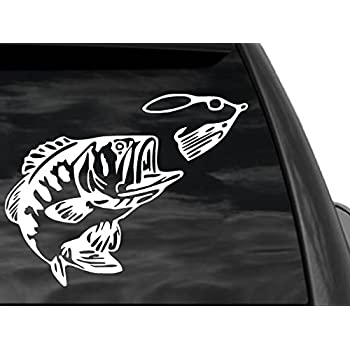 Amazoncom FGD Bass Fishing Window Decal Sticker Car Truck SUV - Window decals for vehicles