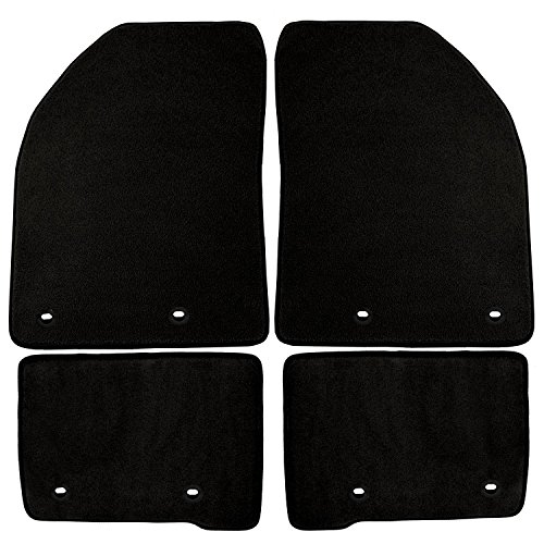 Coverking Front and Rear Floor Mats for Select Audi Q7 Models - 40 Oz Carpet (Black) ()