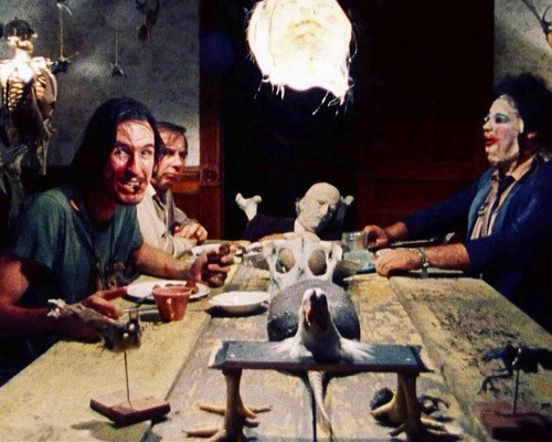 The Texas Chain Saw Massacre Leatherface grisly dining table 16×20 Poster