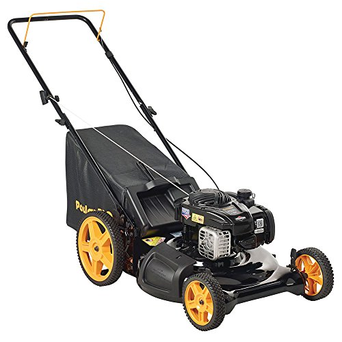 Deck Rear Bag Push - Poulan Pro 961320098 PR550N21RH3 Briggs 550ex Side Discharge/Mulch/Bag 3-in-1 Hi-Wheel Push Mower in 21-Inch Deck, 11-inch wheels