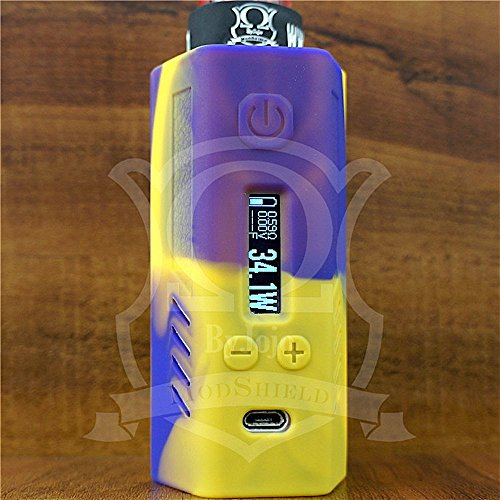 ModShield for Lost Vape Triade DNA200 & DNA250 Silicone Case 200W & 250W TC Sleeve Skin DNA Shield ByJojo (Yellow/Purple)