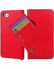 Flip Folio Faux Leather Wallet Phone Case with Credit Card Holder for iPhone 6/6S/7/6 Plus/6S Plus/7 Plus/8/8 Plus/iPhone X/XS/XS Max/XR Samsung Galaxy S7/S7 Edge/S8/S8 Plus +/S9/S9 Plus +, 5 Colors
