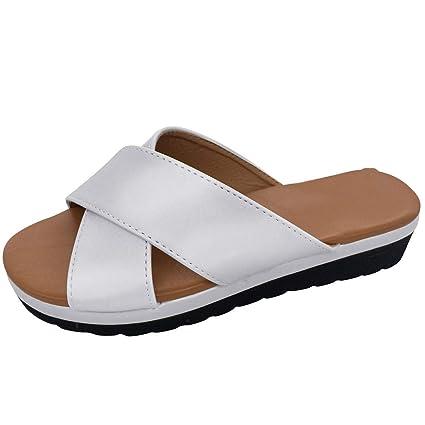 e72632d6e9960 Amazon.com: ❤ Sunbona On Sale Women Wedges Slippers Ladies Summer ...