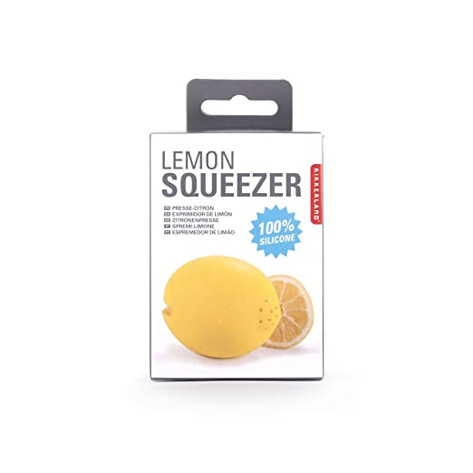 Amazon.com: Kikkerland CU234 Silicone Lemon Squeezer Yellow: Kitchen & Dining